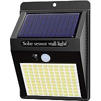 Hepside Luz Solar Exterior,【1 Pack / 3 Modos】Luces LED Solares para Exteriores, 800 Lumens Focos LED Exterior Solares…