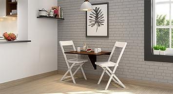 Urban Ladder Ivy Wall Mounted Dining Table Dark Walnut Amazonin