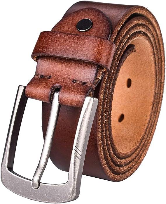 Alice /& Elmer Mens Ultra-Soft Genuine Leather Belt