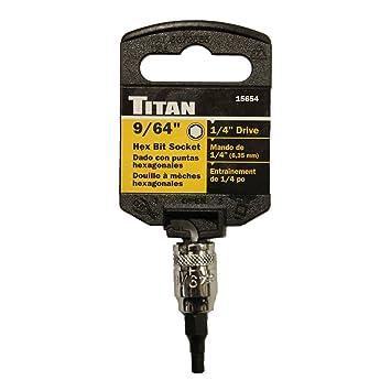 Titan TIT15654 1 4 Drive 9 64 Hex Bit Socket