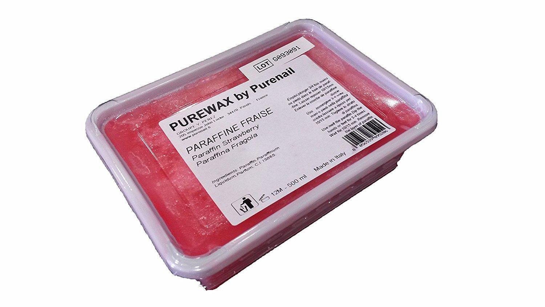 2panini di 500ml di paraffina Fragola per riscaldamento paraffina, cura delle mani e dei piedi purenail