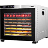 VIVOHOME Stainless Steel Electric 1000W 10 Trays Commercial Food Dehydrator Machine with Digital Timer and Temperature Contro