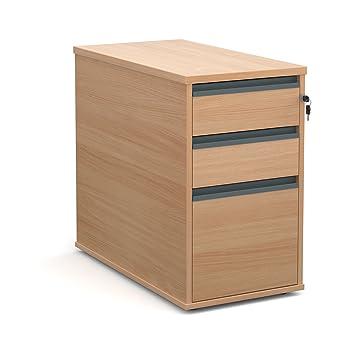 Oficina elefante oe05-m25dh8b 800 mm de profundidad para alto Pedestal con dos cajones de poca profundidad y un armario archivador en madera de haya: ...