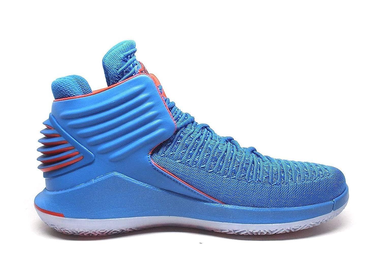 0b90f1dd3f40 Jordan Men s Retro XXXII Russ Signal Blue Team Orange-MTLC Silver (10 D(M)  US)  Amazon.ca  Shoes   Handbags
