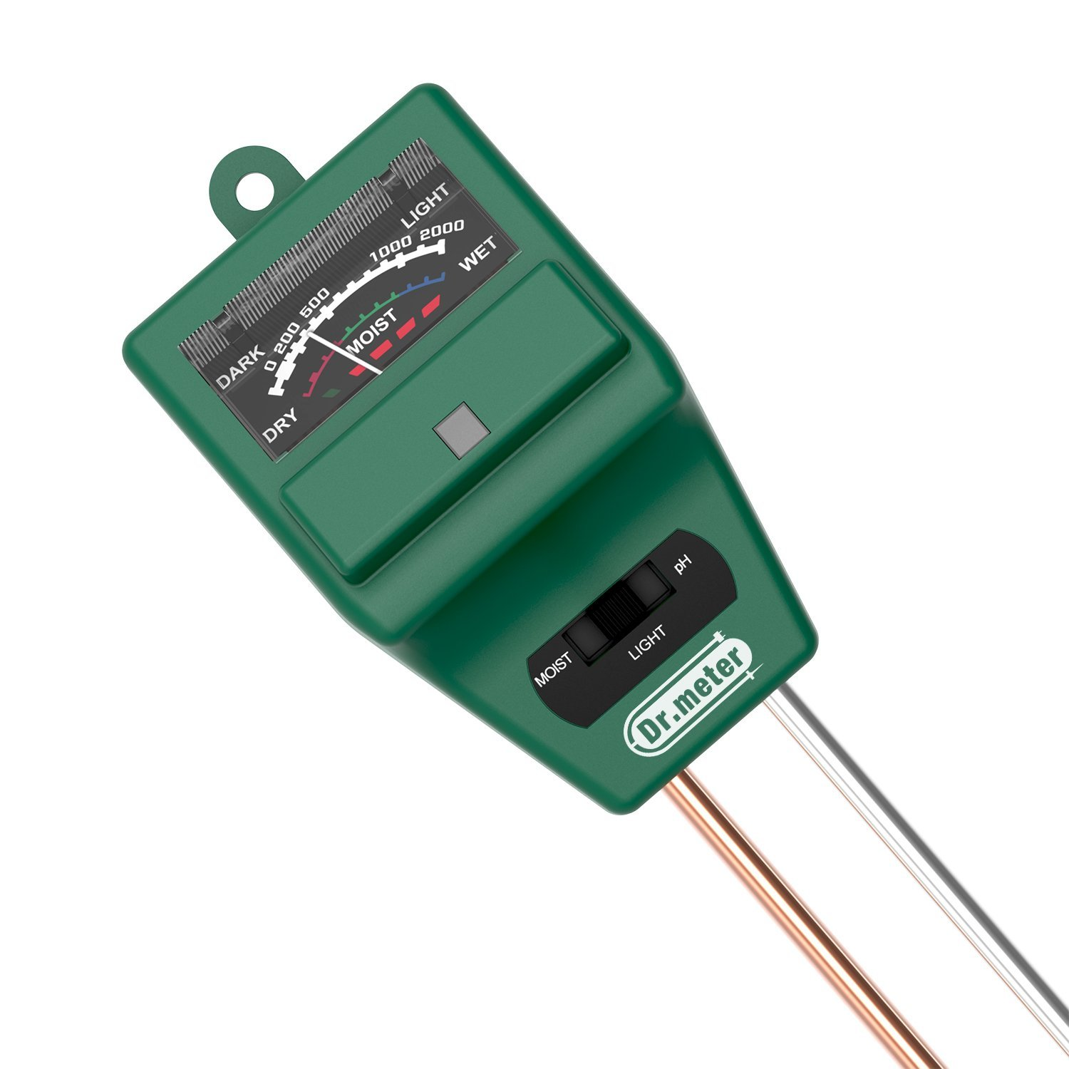Dr.meter S30PLUS Upgrade 3 in 1 Soil Moisture Meter, Sunlight PH Acidity Soil Tester Kit