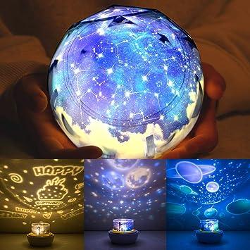 Amazon.com: Proyector de luz nocturna para niños, luces ...
