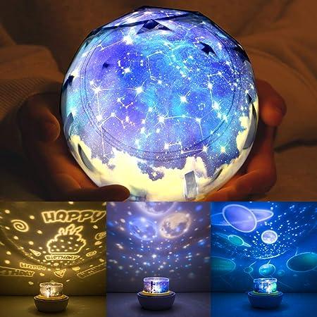 Proyector de luz nocturna para niños, proyector universo, planeta ...