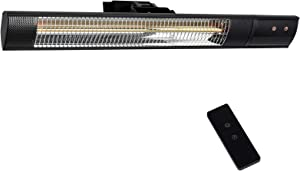 Star Patio Electric Patio Heater, Outdoor Wall Mounted Heater, Infrared Heater with Remote, Instant Heating1500W, IP55 Waterproof Outdoor Heaters, Without Bright Light, STP2580-RM-S