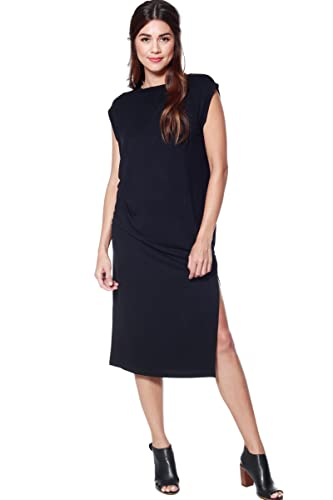 A+D® Womens Split Back Boxy Jersey Midi Dress