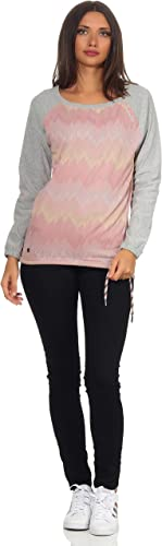 mazine Damen Sweatshirt Yakima Hoody Kapuzenpullover Langarmshirt Raglan Ärmeln