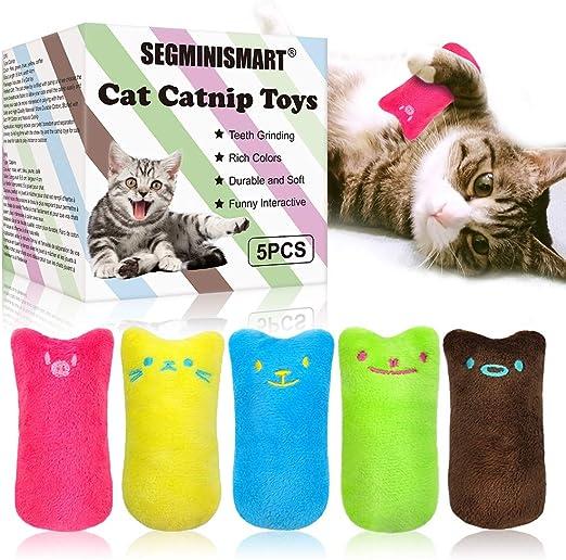 SEGMINISMART Hierba Gatera Juguete, Juguetes del Catnip, Interactivos para Gatos, Dientes para Masticar limpios, Juguete de gatol para Todos los Gatos y Gatitos Adecuado: Amazon.es: Productos para mascotas