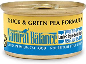 Limited Ingredient Diets Pea And Duck Canned Cat Food Size: 3 Oz, Case Of 24 By Natural Balance