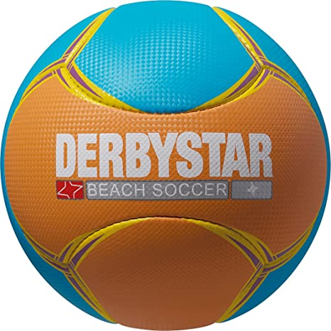 Derbystar balón de fútbol Playa, Naranja/Azul, 5, 1166500765 ...