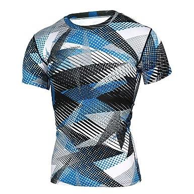 Camisa para Hombre Viahwyt, para Deporte, Manga Corta ...