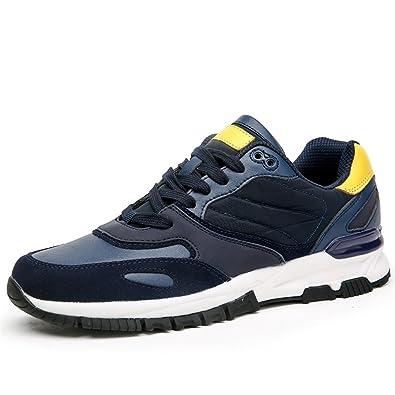 Sneakers Sport Sneaker Mens Shoe for Men Zapatillas Free Run Wide Low Rubber Breathable Blue 7