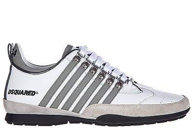 Dsquared2 chaussures baskets sneakers homme en cuir 251 veau caoutchouc to  blanc EU 39 W17SN1311157M182