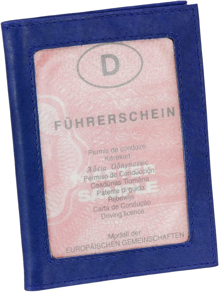 Farben Leder Ausweisetui Ausweish/ülle Kreditkartenetui Ausweismappe Kartenetui KFZ Mappe Etui vers