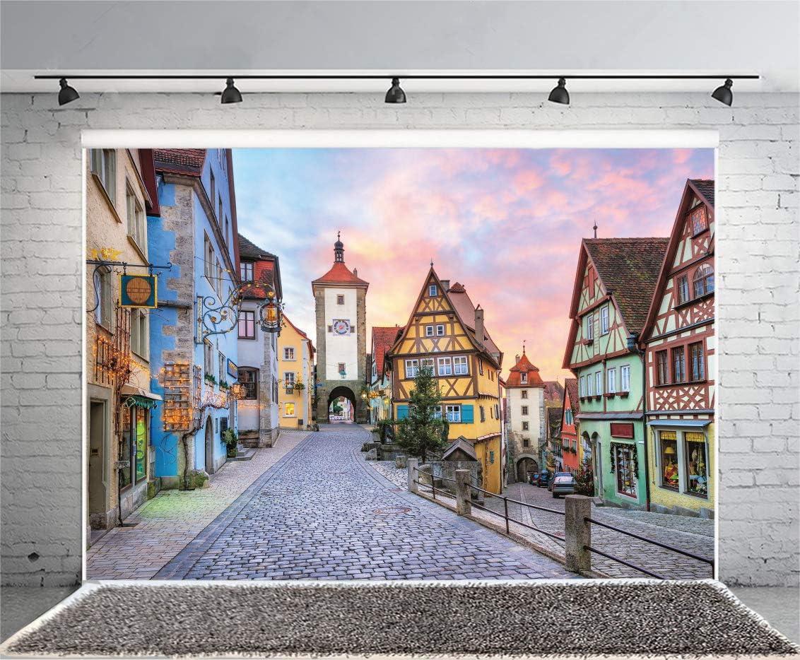 Germany 15x10 FT Vinyl Photo Backdrops,Bavarian Alps Village of Berchtesgaden and Watzmann Germany Background for Child Baby Shower Photo Studio Prop Photobooth Photoshoot