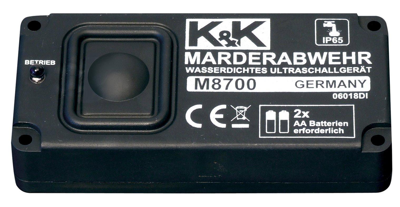 K&K Cartrend M8700 Marderabwehr - wasserdichtes Sinus-Ultraschallgerät, Batteriebetrieb, Reichweite bis zu 6m/60m², mit IP 65 product image