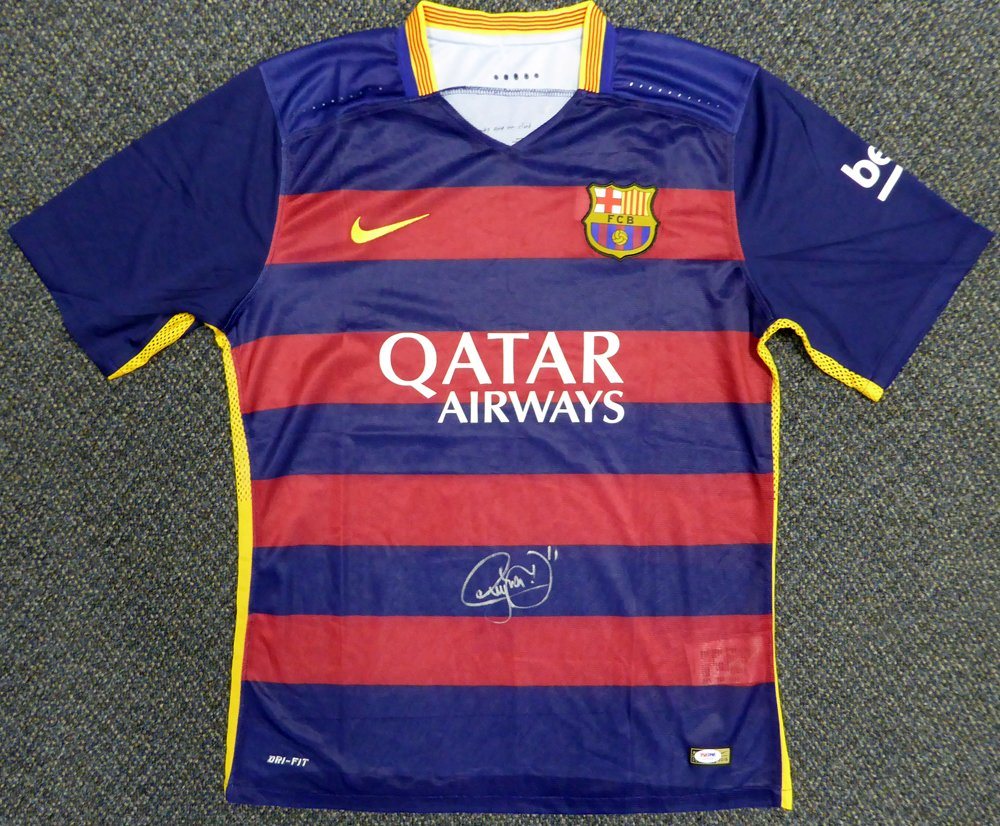 ba18ab48e11 Neymar Jr. Signed Barcelona Qatar Airways Nike Authentic Jersey Size XL -  PSA DNA Authentication at Amazon s Sports Collectibles Store