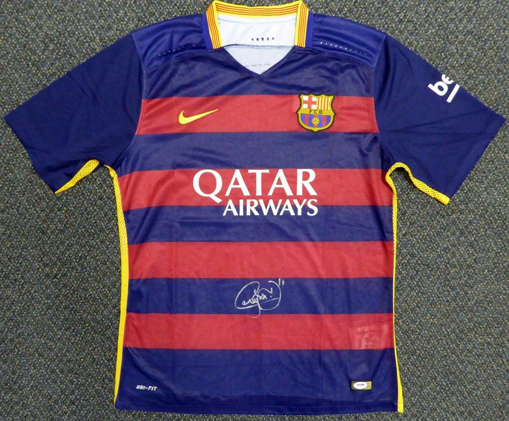 brand new dda7c 7bf18 Neymar Jr. Signed Barcelona Qatar Airways Nike Authentic ...