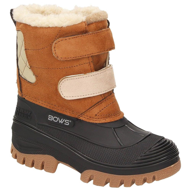 BOWS Robin- Jungen Mädchen Schuhe Kinder Schnee Winter Stiefel Winter Boots Gefüttert Wasserdicht Wasserabweisend Phthalat-Frei, Schuhgröße:34, Farbe:Gelb