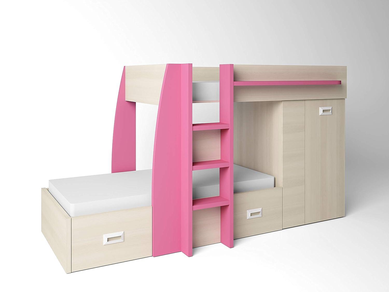 Ambiato Design Hochbett 2 Schlafplätze Viel Stauraum Etagenbett