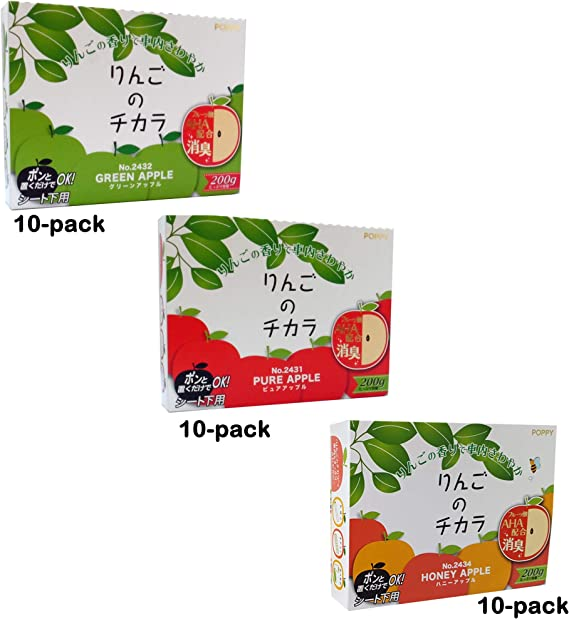 Super Apple Car Air Freshener 30-Pack (1 Box) Assorted Apples: 10 of Green Apple