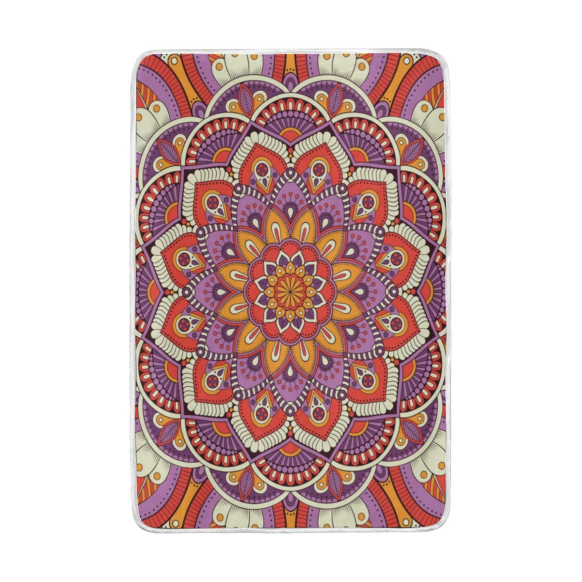 Amazon.com: WXLIFE Indian Mandala Floral Flower Soft Warm ...