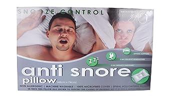 Schlummerfunktion Control Kissen Luxus Orthopädisches Anti Schnarch Kissen  Allergenfrei Microfaser Baumwolle | Spiral