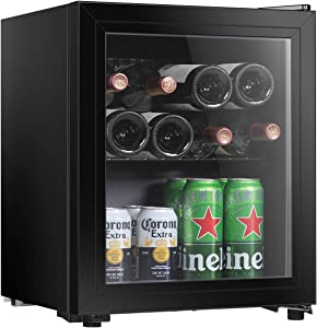 Hailang 16 bottle Wine cooler refrigerator, Wine fridge with Temperature Control and Lock, Freestanding wine refrigerator For Red, White, Champagne or Sparkling Wine