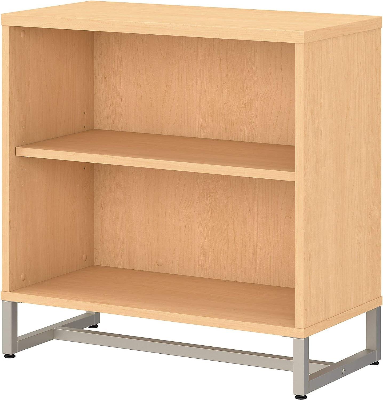 Bush Business Furniture Office by kathy ireland Method 2 Shelf Bookcase Cabinet, Natural Maple