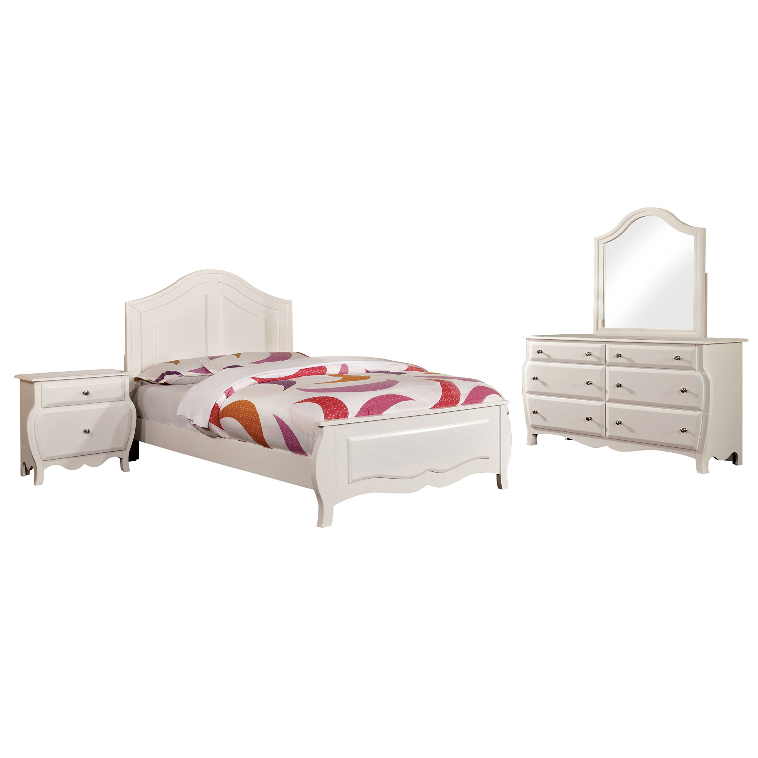 HOMES: Inside + Out 4 Piece ioHOMES Lionel Youth Bedroom Set, Full, White by HOMES: Inside + Out (Image #1)