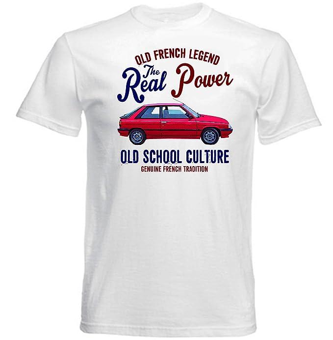 TEESANDENGINES Renault 11 Turbo Camiseta Blanca para Hombre de Algodon: Amazon.es: Ropa y accesorios