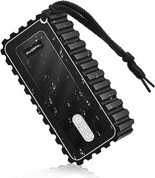 BassPal Waterproof 10W Portable Bluetooth 5.0 Speaker with Radio And Mic