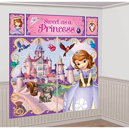 Amazon Disney Princess Sofia The First Scene Setter Wall