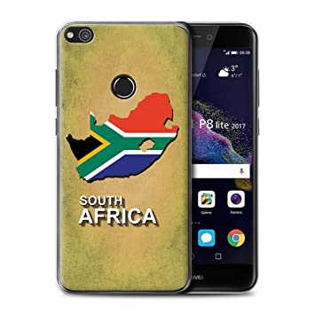 the latest a7438 7db79 Stuff4 Phone Case/Cover for Huawei P8 Lite (2017) / South Africa/African  Design/Flag Nations Collection