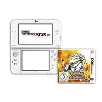 New Nintendo 3DS XL Pearl White & Pokémon Sonne - [3DS]