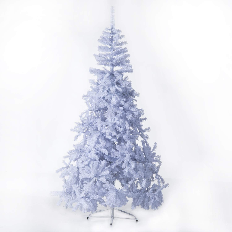 homcom Albero di Natale Artificiale con Supporto in Metallo Bianco Altezza 210cm Folto Aosom Italy