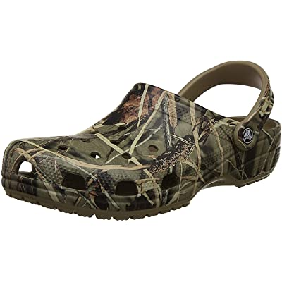 Crocs Men's and Women's Classic Realtree Clog | Comfort Slip On Camo Casual Shoe | Lightweight | Mules & Clogs