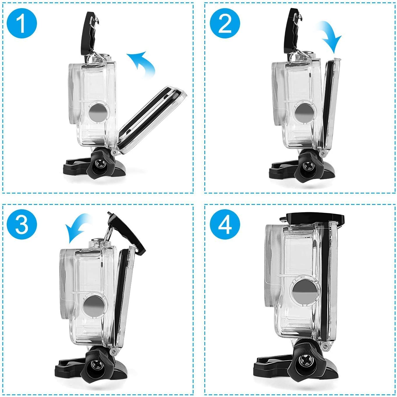 2020 164FT//50M Waterproof Case Diving Protective Housing Shell for GoPro Action Camera Underwater Dive Case Shell with Mount /& Thumbscrew Ouxunus Waterproof Housing Case for GoPro Hero 9 Black