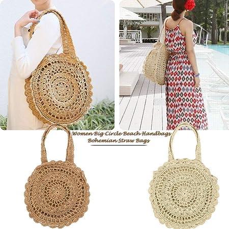 Luggage & Bags Qualified Bohemian Flower Straw Bags Women String Bucket Beach Handbags Summer Vintage Rattan Bag Handmade Kintted Travel Shopping Bags