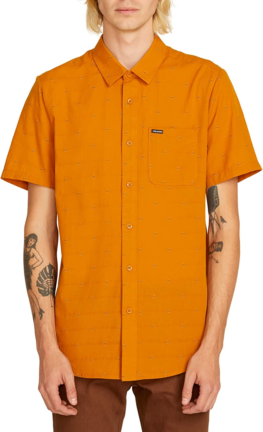 Volcom Mens Magstone Short Sleeve Button Up Shirt