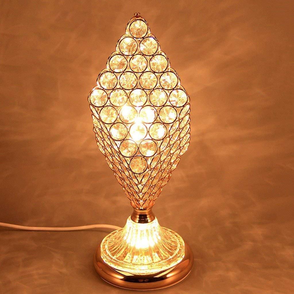 Lampada da tavolo in cristallo di lusso del Rhombus; Lampada da comodino; Camera da letto della stanza da bagno Decorazione della lampada E27 Interfaccia di sorgente luminosa;