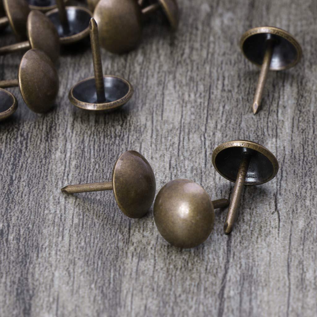 17mm Oeil de chat A0127/le unghie punaise punaise Stud palla rotonda decorazione vintage Imbottitura ottone anticato 100pcs ufficio o bricolage 11