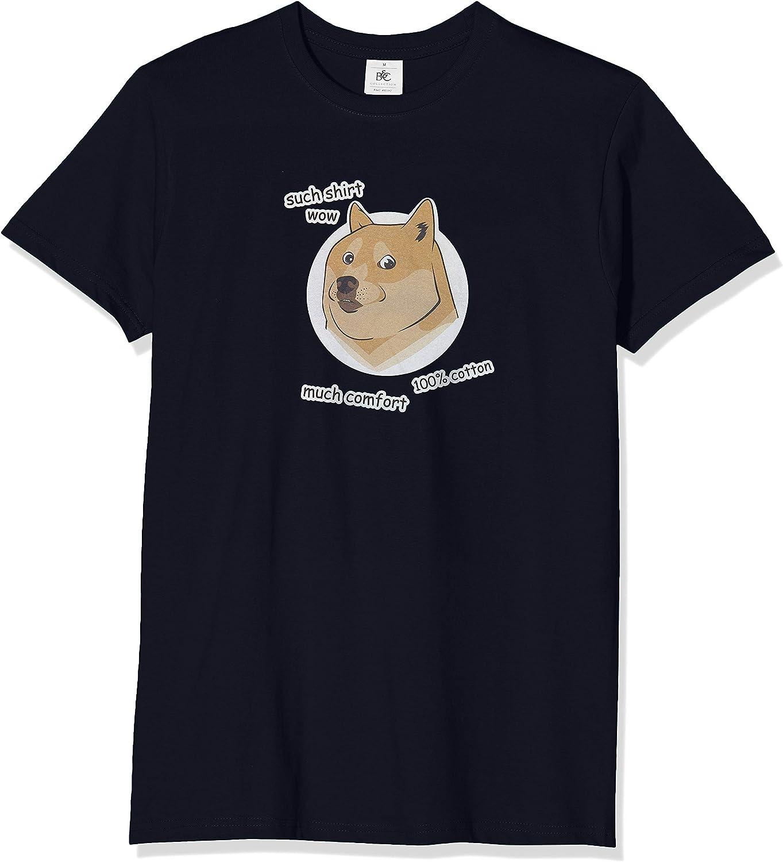 Texlab Such Shirt Doge Camiseta, Hombre, Azul Marino, Medium: Amazon.es: Deportes y aire libre