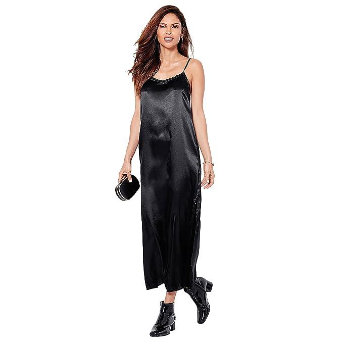 cf1918776bc0 VENCA Vestido Liso Tirantes Regulables Mujer by Vencastyle - 008229, Negro,  XXL: Amazon.es: Ropa y accesorios
