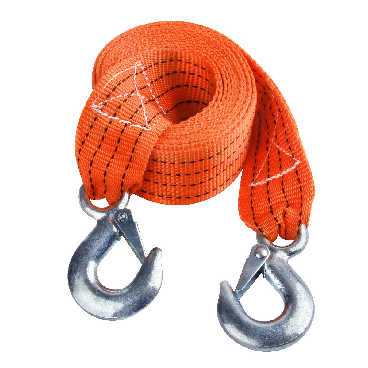 JCHL Tow Strap with Hooks 2in X20Ft Recovery Strap 10,000LB Break Strengthened Towing Rope for Towing Vehicles in Roadside Emergency by JCHL