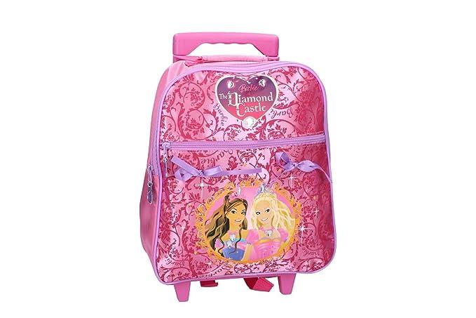 Pam Shop Mochila niña BARBIE bolsa de ocio escolar rosa con la carretilla VZ132: Amazon.es: Ropa y accesorios