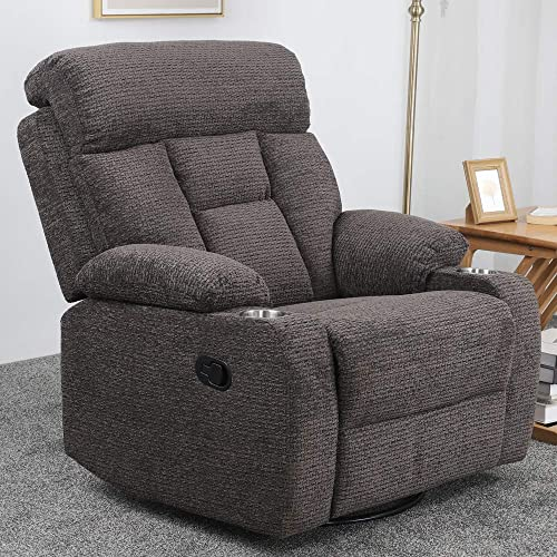 Cheap Irene House 7619 Chenille Fabric Recliner 360 Degree Lumbar Support Home Theater Seating Bedroom Living Room Chair Recliner Sofa living room chair for sale